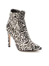 Gray - Leopard - Boot - Boots