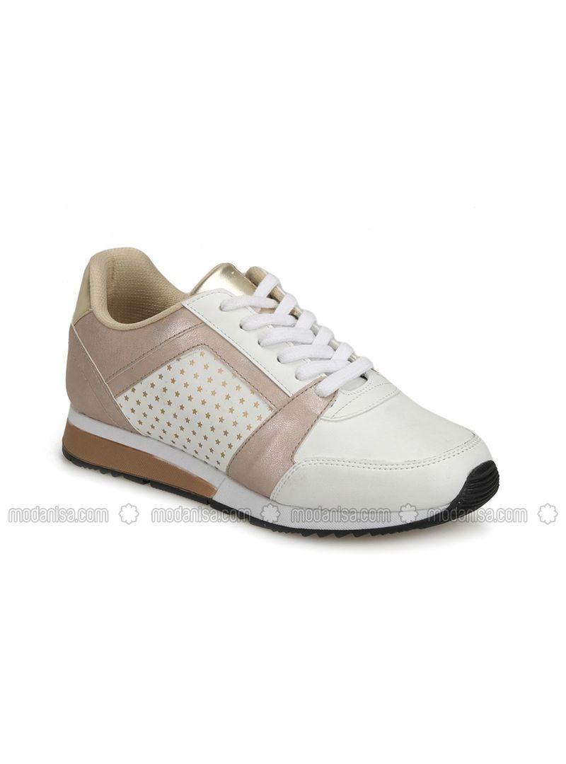 8ad637df65011 18k-166 Beyaz Kadın Sneaker Ayakkabı - Beyaz