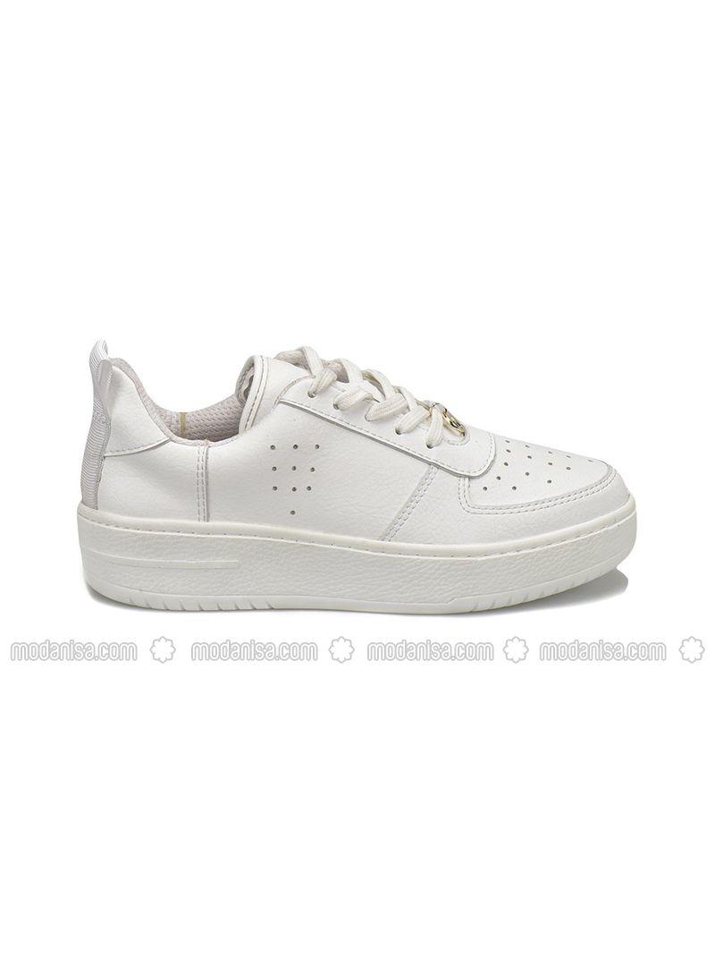 f38149f7d55b8 18S-118 Beyaz Kadın Ayakkabı - Beyaz