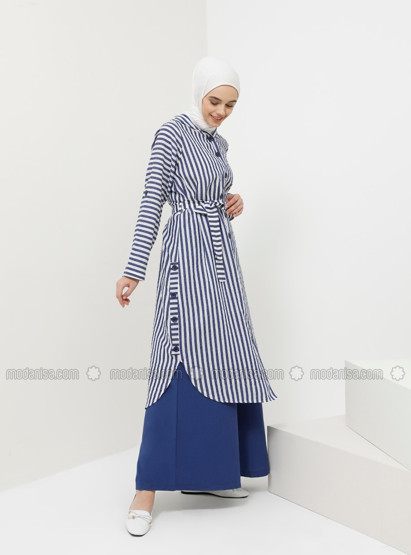 Navy Blue - Cotton - Tunic