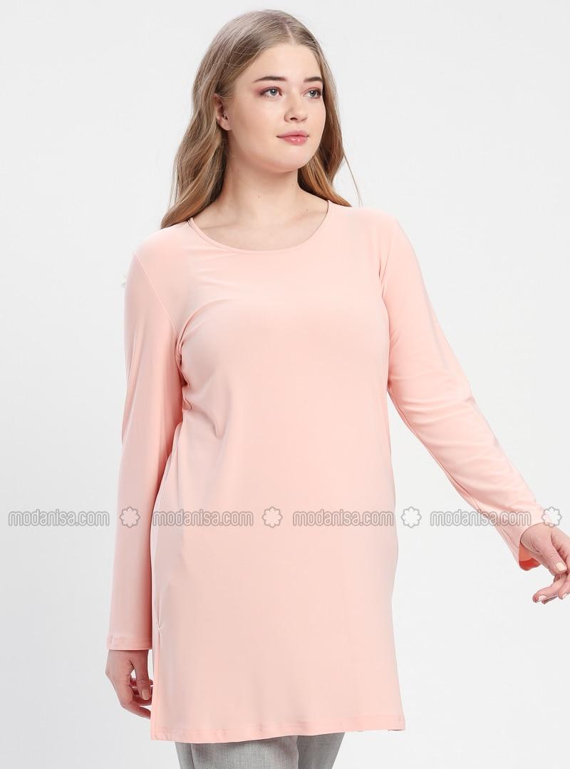 Powder - Crew neck - Cotton - Plus Size Tunic