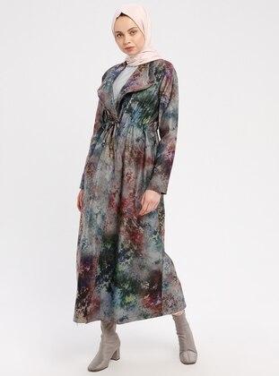 Khaki - Multi - Unlined - Shawl Collar - Trench Coat