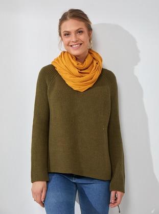 Cotton - Mustard - Plain - Shawl Wrap