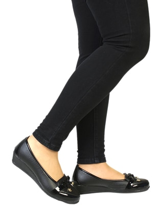 Black - Flat - Shoes - Snox