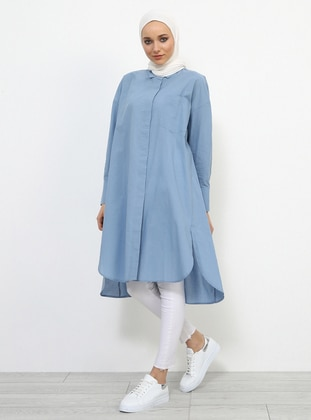 Blue - Gray - Point Collar - Tunic