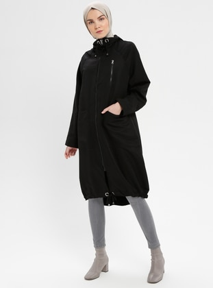 Black - Unlined - Trench Coat