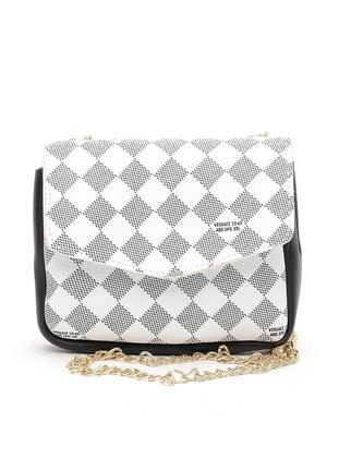 Black - White - Shoulder Bags - 19V69 Italia