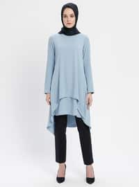 Blue - Crew neck - Tunic