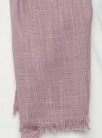 Purple - Lilac - Plain - Fringe - Shawl