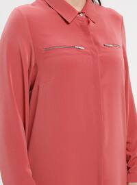Coral - Point Collar - Plus Size Tunic