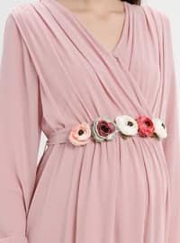 Powder - Crew neck - Fully Lined - Maternity Dress