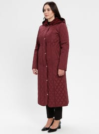 Plum - Fully Lined - Plus Size Overcoat