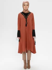 Terra Cotta - V neck Collar - Tunic