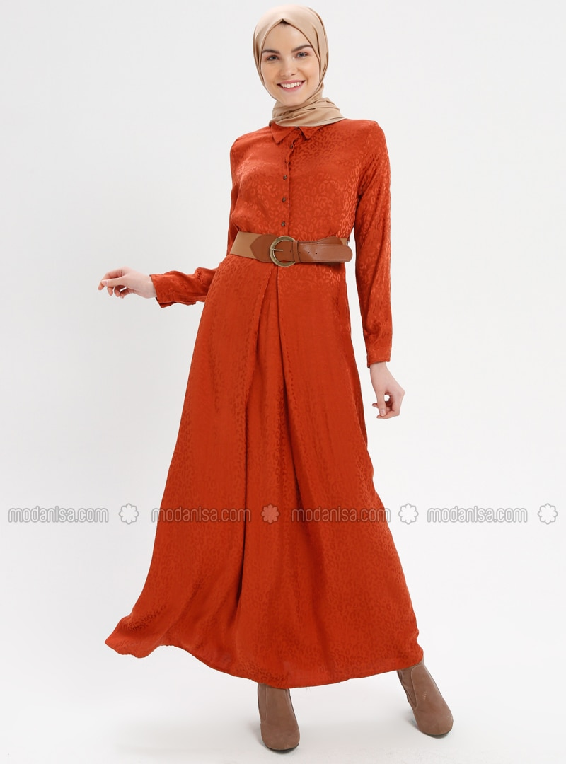 Terra Cotta - Point Collar - Half Lined - Dresses