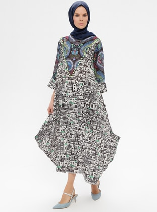 Multi - Ethnic - Crew neck - Unlined - Dress