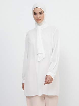 Cream - Polo neck - Tunic