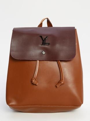 Maroon - Tan - Backpack - Backpacks