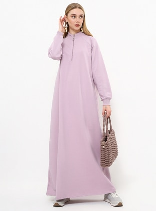 Lilac - Unlined - Polo neck - Topcoat