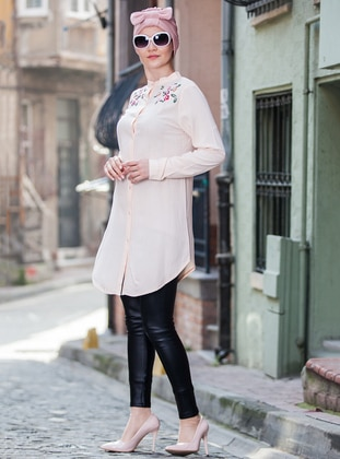 Powder - Button Collar - Cotton - Tunic