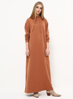 Tan - Cotton - Dress
