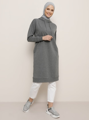 Anthracite - Cotton - Tunic