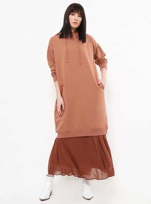 Beige - Cotton - Tunic