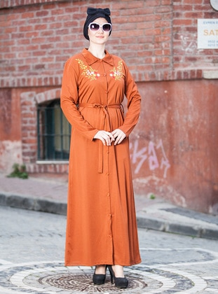 Terra Cotta - Point Collar - Unlined - Dresses