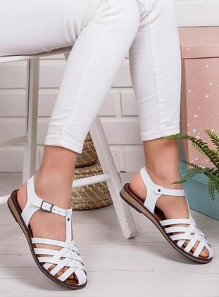 White - Sandal - Sandal - Ayakkabı Frekansı