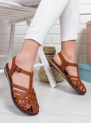 Tan - Sandal - Sandal - Ayakkabı Frekansı