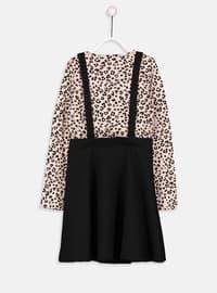 Beige - Printed - Age 8-12 Dress