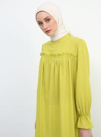 Olive Green - Crew neck - Tunic