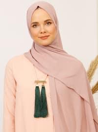 Pink - Plain - Crepe - Shawl - Şal