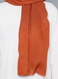 Terra Cotta - Plain - %100 Silk - Shawl