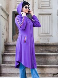 Purple - Unlined - Cotton - Topcoat