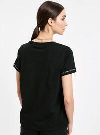 Black - Crew neck - T-Shirt
