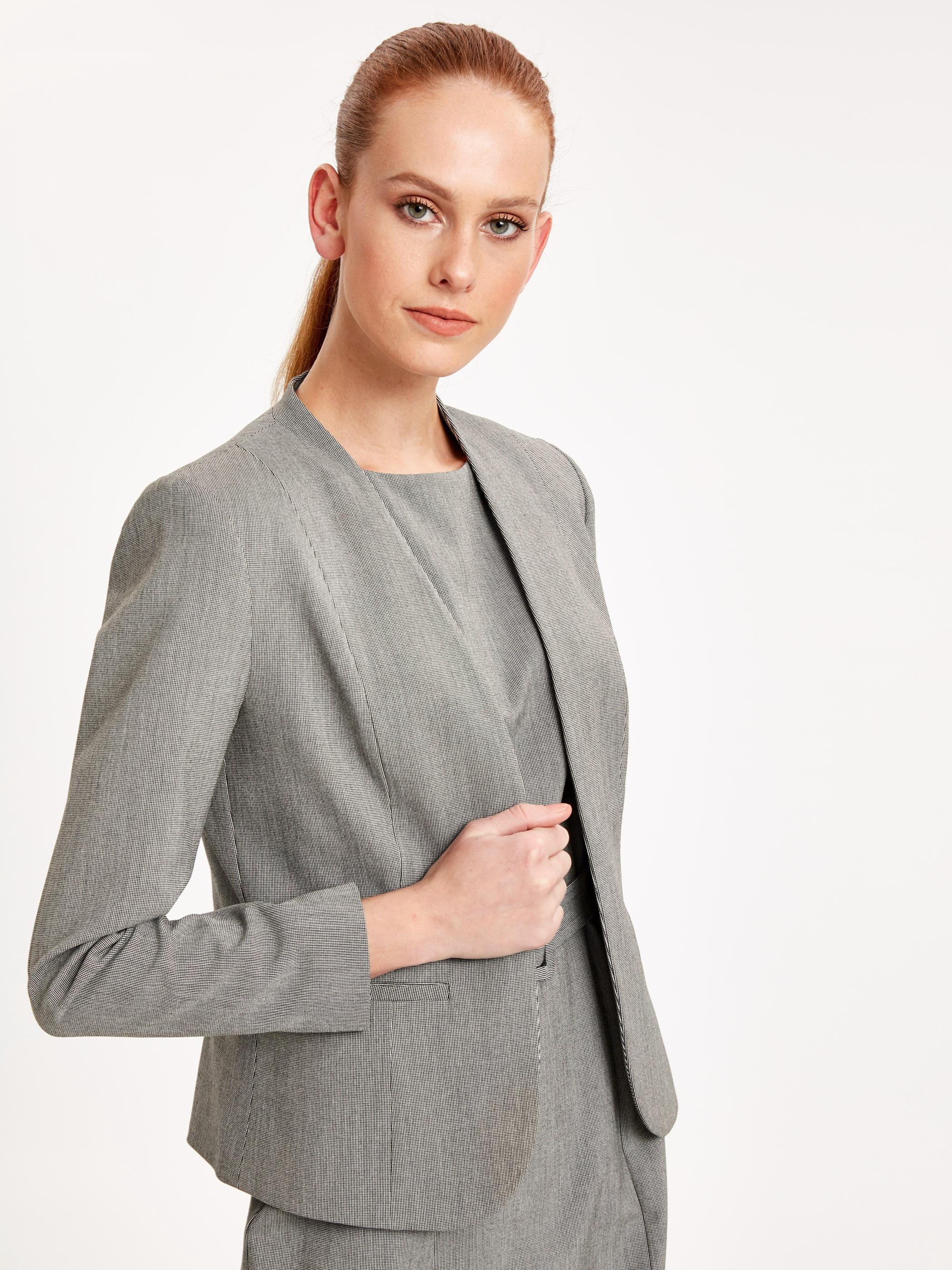 Tesettür Ceket LC WAIKIKI Gri Kadın 34