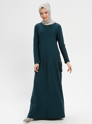Emerald - Crew neck - Unlined - Viscose - Dresses