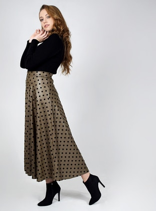 Minc - Polka Dot - Unlined - Skirt