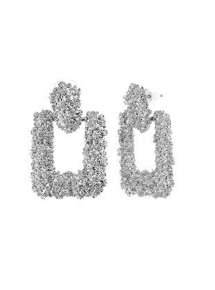 Silver tone - Earring - Herisson