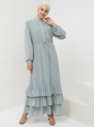 Green Almond - Button Collar - Fully Lined - Dress
