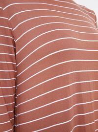 - Stripe - Crew neck - Unlined - Viscose - Dress