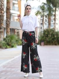 Black - Maroon - Stripe - Pants