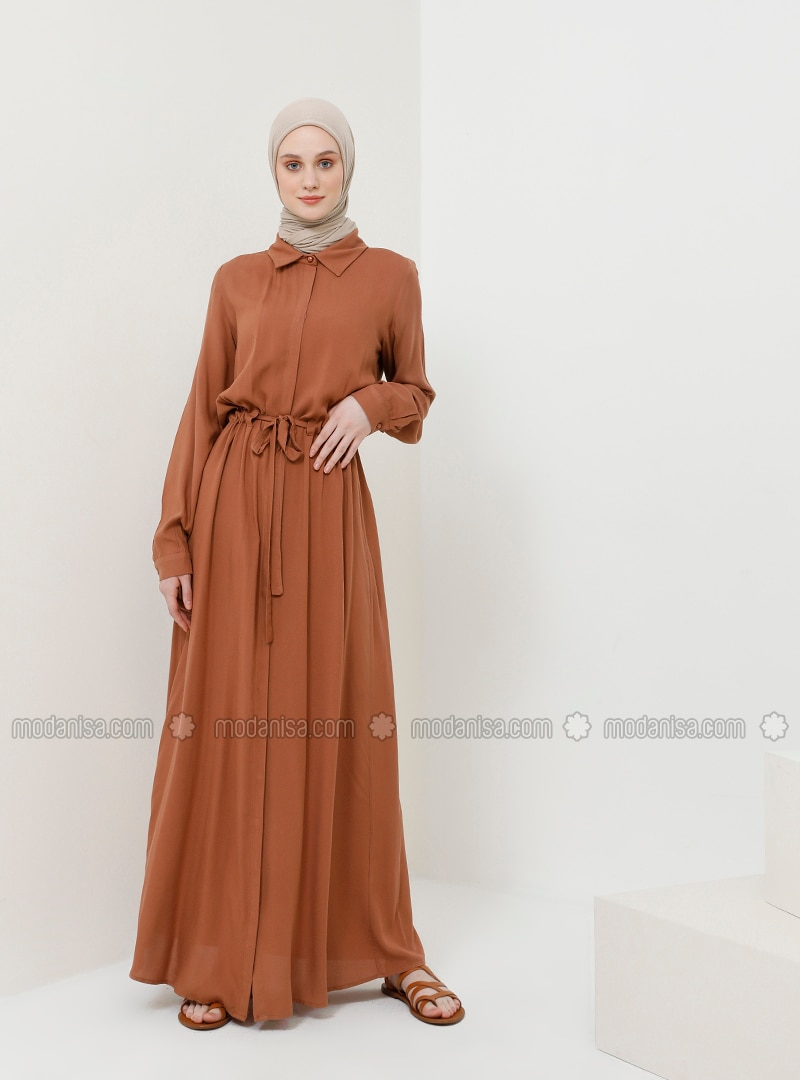 - Point Collar - Unlined - Viscose - Dress