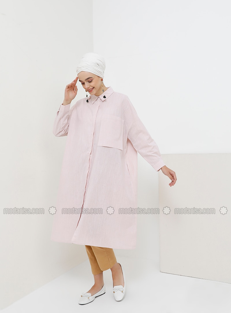 Powder - Point Collar - Cotton - Tunic