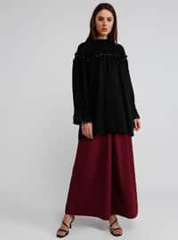 Black - Polo neck - Cotton - Tunic