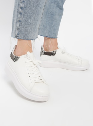 White - Khaki - Sport - Casual - Shoes