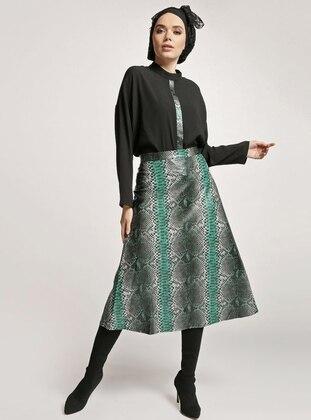 Green - Black - Leopard - Unlined - Suit