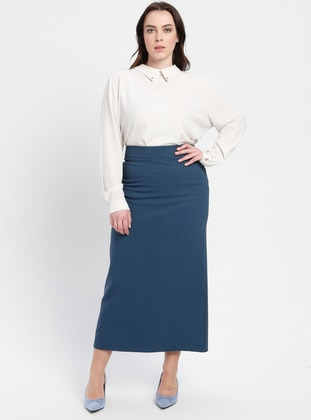 Petrol - Fully Lined - Plus Size Skirt
