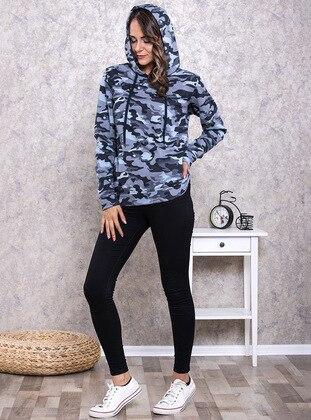 Gray - Sweat-shirt - ANIL