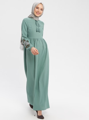 Green Almond - Crew neck - Unlined - Dresses